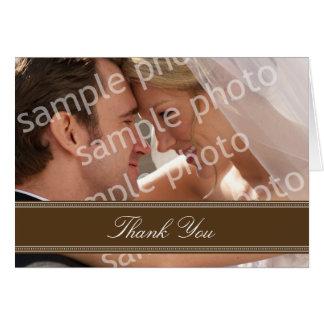 結婚式の写真のカスタムなサンキューカード(チョコレート) カード