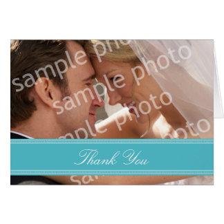 結婚式の写真のカスタムなサンキューカード(水) ノートカード