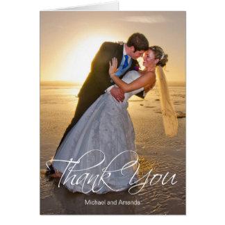 結婚式の写真のカスタムは感謝していしています カード