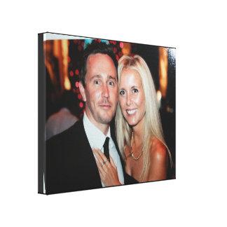 結婚式の写真のキャンバスプリントはあなた専有物を作成します キャンバスプリント