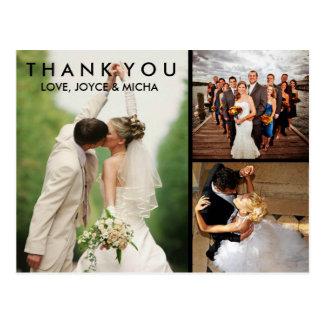 結婚式の写真のコラージュは郵便はがき感謝していしています ポストカード