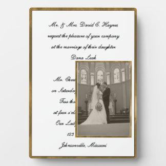 結婚式の写真のプラク フォトプラーク