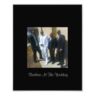 結婚式の写真のプリントの兄弟 アート写真