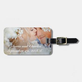 結婚式の写真の新婚旅行の結婚式の荷物のラベル ラゲッジタグ