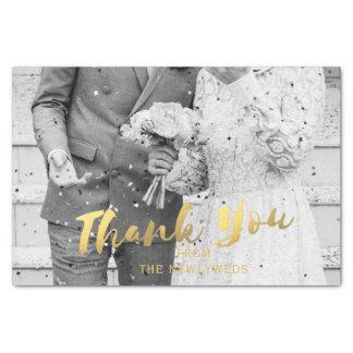 結婚式の写真の金ゴールドはティッシュペーパー感謝していしています 薄葉紙