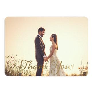 結婚式の写真はノート、模造のな金ゴールドの効果感謝していしています カード