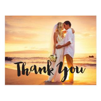 結婚式の写真は梳きます郵便はがきを感謝していしています はがき