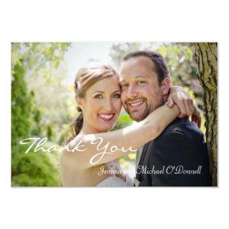 結婚式の写真は3.5 x 5カード感謝していしています カード