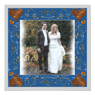 結婚式の写真フレームありがとう 13.3 スクエアインビテーションカード