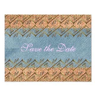 結婚式の国の素朴な花のモダンな花嫁のヴィンテージ カード