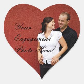 結婚式の婚約の写真のステッカーのハートの形 ハートシール