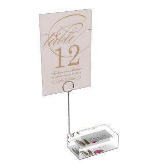 結婚式の小剣および花束のテーブルカードホルダー テーブルカードホルダー