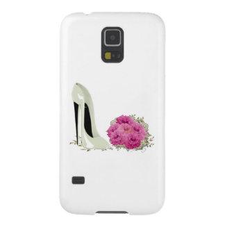結婚式の小剣の靴およびバラの花束のギフト GALAXY S5 ケース
