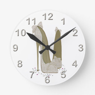 結婚式の小剣は芸術に蹄鉄を打ちます ラウンド壁時計
