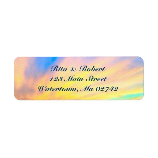 結婚式の差出人住所ラベル-日付を救って下さい 返信用宛名ラベル