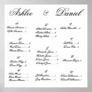 結婚式の座席の図表 ポスター