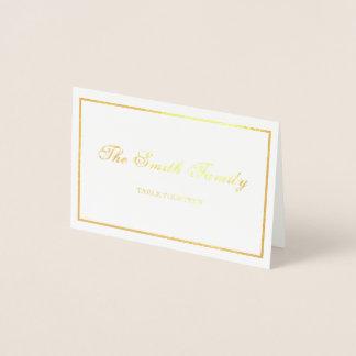 結婚式の座席表のボーダー 箔カード