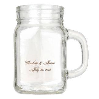 結婚式の引き出物のメーソンジャーの飲み物ガラスのつぼ メイソンジャー