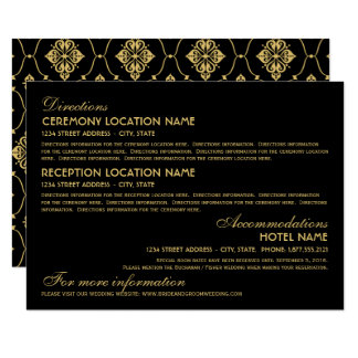 結婚式の情報カード|のアールデコのエレガントなスタイル 11.4 X 15.9 インビテーションカード