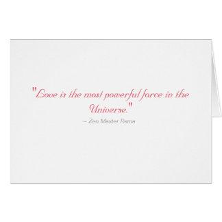 結婚式の招待状: 愛はほとんどの強力な力です カード