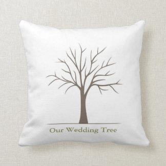 結婚式の指紋の木-枕 クッション