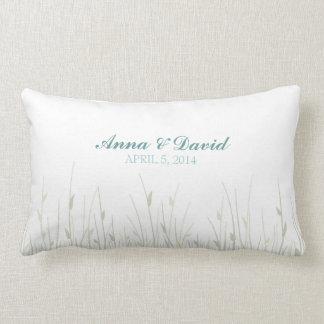 結婚式の指紋の花-枕 ランバークッション