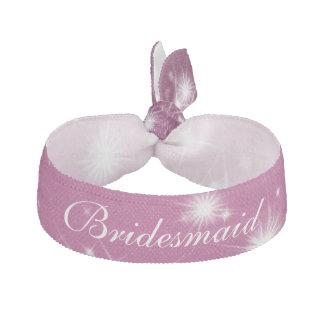 結婚式の新婦付添人の好意の冬の輝きのピンク ヘアタイ