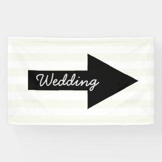 結婚式の方向旗-正しく指す矢 横断幕
