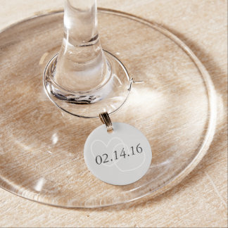 結婚式の日付のチャーム