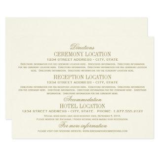 結婚式の明細カード|のアンティークの金ゴールド カード
