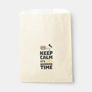 結婚式の時間は穏やかなZitj0を保ちます フェイバーバッグ