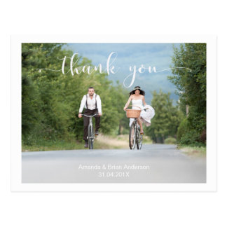 結婚式の書道は写真の郵便はがき感謝していしています ポストカード