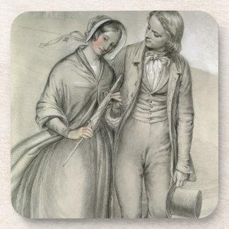結婚式の朝-出発、c.1846 ドリンクコースター