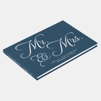 結婚式の来客名簿、氏及び夫人、海軍および白 ゲストブック