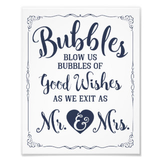結婚式の泡印の結婚式ポスター フォトプリント