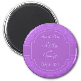 結婚式の発表の保存日付の磁石 冷蔵庫マグネット