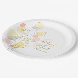 結婚式の紙吹雪の花の花びらのカスタムな紙皿 ペーパープレート