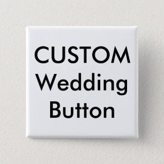 """結婚式の習慣2""""正方形ボタンPin 5.1cm 正方形バッジ"""
