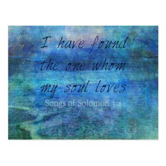 結婚式の聖書の詩の芸術の聖なる書物、経典の海の海 ポストカード