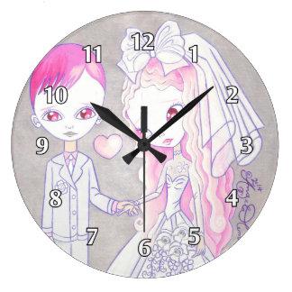 結婚式の至福 ラージ壁時計
