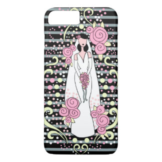 結婚式の花嫁の電話箱 iPhone 8 PLUS/7 PLUSケース