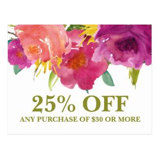 結婚式の花屋の花のマーケティングの昇進カード 葉書き