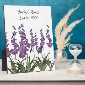 結婚式の薄紫の花 フォトプラーク