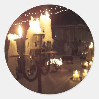 結婚式の蝋燭 丸形シール・ステッカー