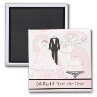 結婚式の装いの保存日付の磁石 マグネット