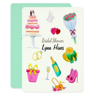 結婚式の要素のブライダルシャワー カード
