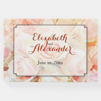 結婚式の記念品の水彩画の花柄 ゲストブック