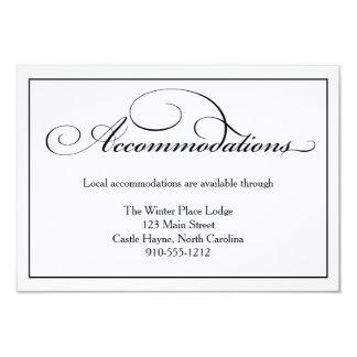 結婚式の調節の明細カード カード