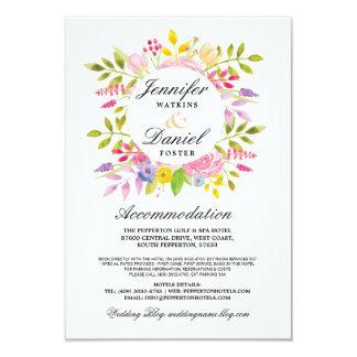 結婚式の調節は挿入物のピンクの花柄を梳きます カード
