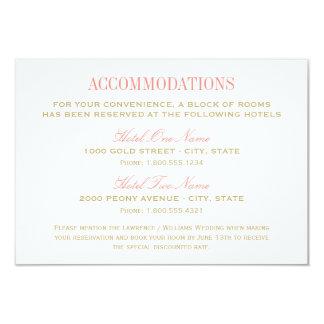 結婚式の調節カード|珊瑚および金ゴールド 8.9 X 12.7 インビテーションカード
